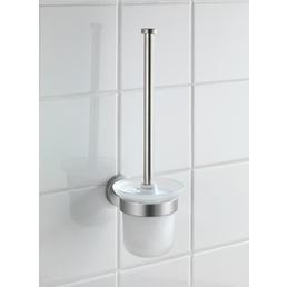 WENKO WC-Garnitur »Bosio«, edelstahl/glas, edelstahlfarben