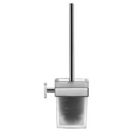 DURAVIT WC-Garnitur »Karree«, Glas, verchromt