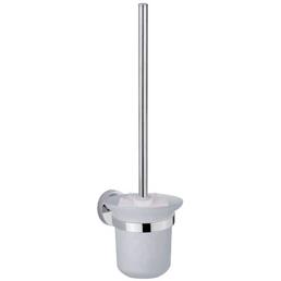 SCHÜTTE WC-Garnitur »London«, Höhe: 37 cm, weiss/chromfarben