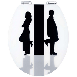 CORNAT WC-Sitz »ART OF ACRYL«, MDF, oval, mit Softclose-Funktion