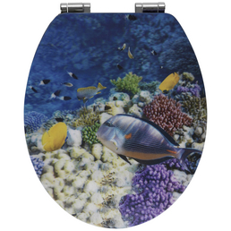 WENKO WC-Sitz »Fish« Holzkern,  oval mit Softclose-Funktion