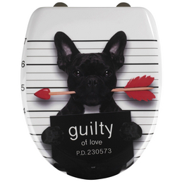 WENKO WC-Sitz »Guilty Dog« aus Duroplast,  oval mit Softclose-Funktion