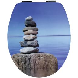 Sitzplatz® WC-Sitz »High Gloss«, steine|strand