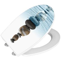 WENKO WC-Sitz »Meditation« aus Duroplast,  oval mit Softclose-Funktion