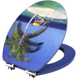 CORNAT WC-Sitz mit Holzkern,  oval mit Softclose-Funktion