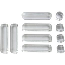 WELLWATER WC-Sitz-Puffer, Kunststoff, transparent