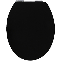 SANITOP-WINGENROTH WC-Sitz »Pure Black High Gloss«, Holzkern, oval mit Softclose-Funktion