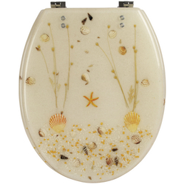 SANITOP-WINGENROTH WC-Sitz »Strand«, Polyresin, oval