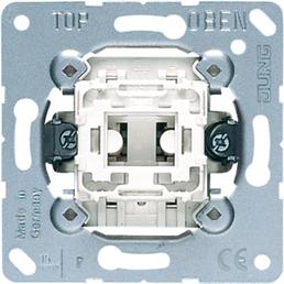JUNG Wechselschalter-Einsatz, 506U, Kunststoff   Metall, Silber