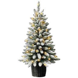 Evergreen Weihnachtsbaum »Kiefer Frost«, Höhe: 90 cm, grün/weiß, beleuchtet