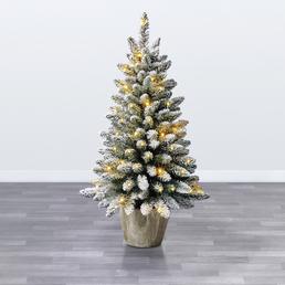 Evergreen Weihnachtsbaum »Kiefer «, Höhe: 90 cm, grün/weiß, beleuchtet