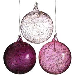 BOLTZE Weihnachtskugel »Jilia«, rund, Höhe: 12 cm