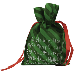 CASAYA Weihnachtstüte, zum Ziehen, Faserstoff ,Grün