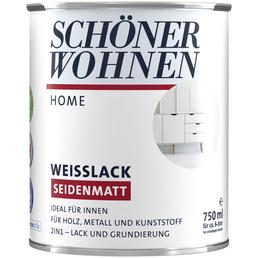 SCHÖNER WOHNEN FARBE Weißlack »DurAcryl seidenmatt«, weiss, für innen & außen