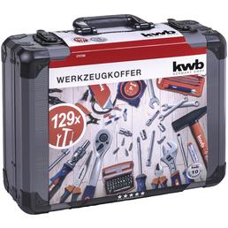 KWB Werkzeugkoffer, Aluminium, bestückt, 129-teilig