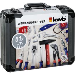 KWB Werkzeugkoffer, Aluminium, bestückt, 51-teilig