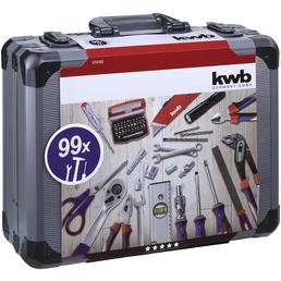 KWB Werkzeugkoffer, Aluminium, bestückt, 99-teilig