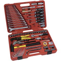 FAMEX Werkzeugkoffer »FAMEX 136-29«, Kunststoff, bestückt, 197-teilig