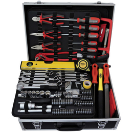 FAMEX Werkzeugkoffer »FAMEX 755-59«, Kunststoff, bestückt, 162-teilig