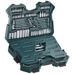 BRUEDER MANNESMANN WERKZEUGE Werkzeugkoffer »Green Line« 215-teilig, Schlüsselgröße: 6,3 - 32 mm
