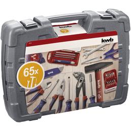 KWB Werkzeugkoffer, Kunststoff, bestückt, 65-teilig