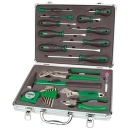 BRUEDER MANNESMANN WERKZEUGE Werkzeugkoffer »M29024«, Metall, bestückt, 24-teilig