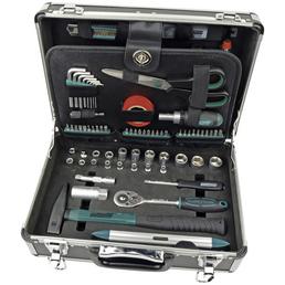 BRUEDER MANNESMANN WERKZEUGE Werkzeugkoffer »M29067«, Metall, bestückt, 90-teilig