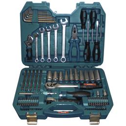 MAKITA Werkzeugkoffer »P-90093«, Kunststoff, bestückt, 83-teilig