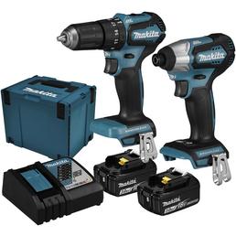 MAKITA Werkzeugset »DLX2221JX2«, 18 V inklusive Akku