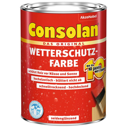 CONSOLAN Wetterschutzfarbe, 0,75 l, rotbraun