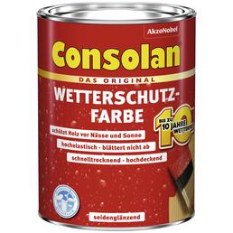 CONSOLAN Wetterschutzfarbe, anthrazit, seidenglänzend, 2,5 l