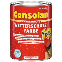 CONSOLAN Wetterschutzfarbe, Schiefergrau, 2,5 l, Seidenglänzend
