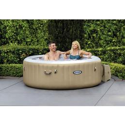 INTEX Whirlpool »PureSpa Bubble Massage«, ØxH: 196 x 50,8 cm, braun, 4 Sitzplätze