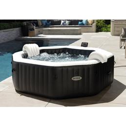INTEX Whirlpool »PureSpa Octagon Bubble Jet«, 218 x 106,36 x 74,3 cm, schwarz, 6 Sitzplätze