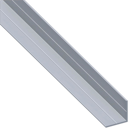 alfer® aluminium Winkelprofil combitech® Alu silber 1000 x 15,5 x 15,5 x 1,5 mm