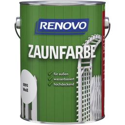 RENOVO Zaunfarbe, für außen, 2,5 l, weiß, seidenmatt