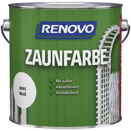 RENOVO Zaunfarbe, für außen, 4 l, weiß, seidenmatt