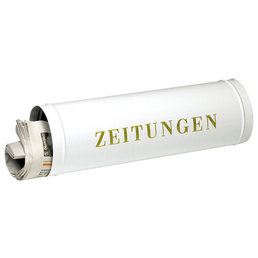 BURG WÄCHTER Zeitungsbox »800«, rund, Stahl, weiß