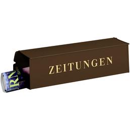 BURG WÄCHTER Zeitungsbox »808«, eckig, Stahl, kupferfarben