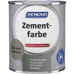 RENOVO Zementfarbe, steingrau , seidenglänzend