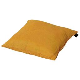 MADISON Zierkissen »Panama«, Uni, gelb, 45 cm x 45 cm