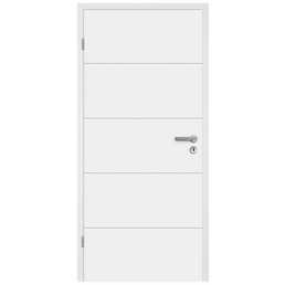 TÜRELEMENTE BORNE Zimmertür »Fila 5 Weißlack«, weiß, , Höhe: 198,5  cm